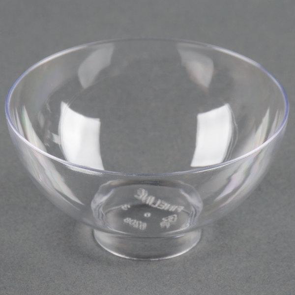 Fineline Tiny Temptations 6208-CL 2 oz. Clear Plastic Tiny Bowl - 200/Case