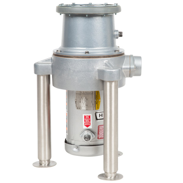 Hobart FD4/200-1 Commercial Garbage Disposer with Adjustable Flanged Feet - 2 hp, 208-230/460V