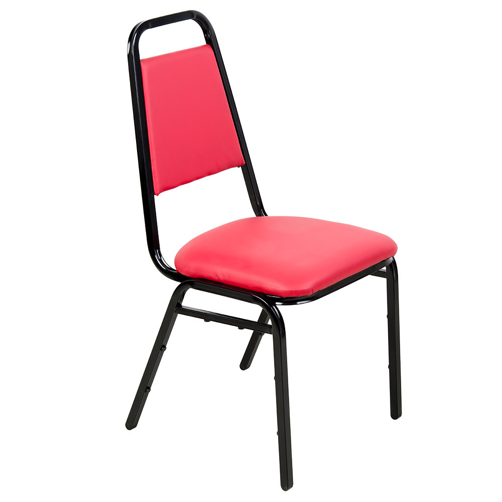 """Lancaster Table & Seating Red Stackable Banquet Chair with 1"""" Padded"""