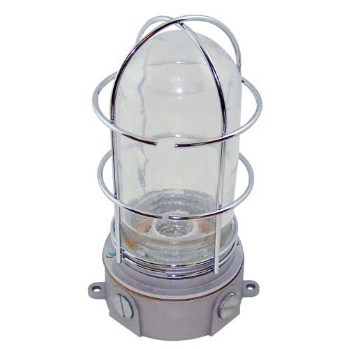junction box light fixture plastic coated glass globe wire guard. Black Bedroom Furniture Sets. Home Design Ideas