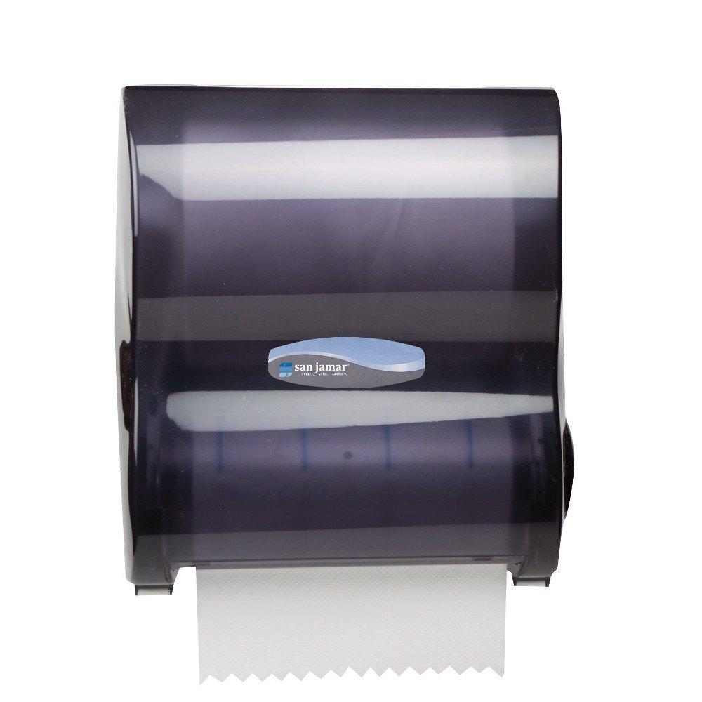 San Jamar T7100TBK Simplicity Mechanical Hands Free Paper Towel Dispenser B