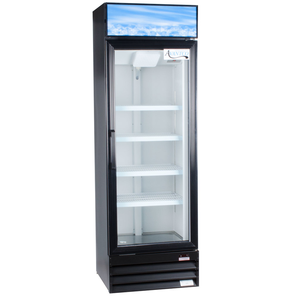 Avantco Gdc15 26 Black Swing Glass Door Merchandiser
