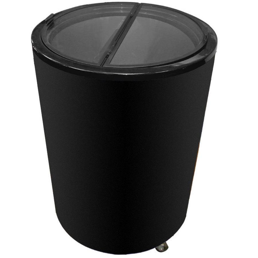 Excellence Rf 77 Black Barrel Style Merchandiser Freezer