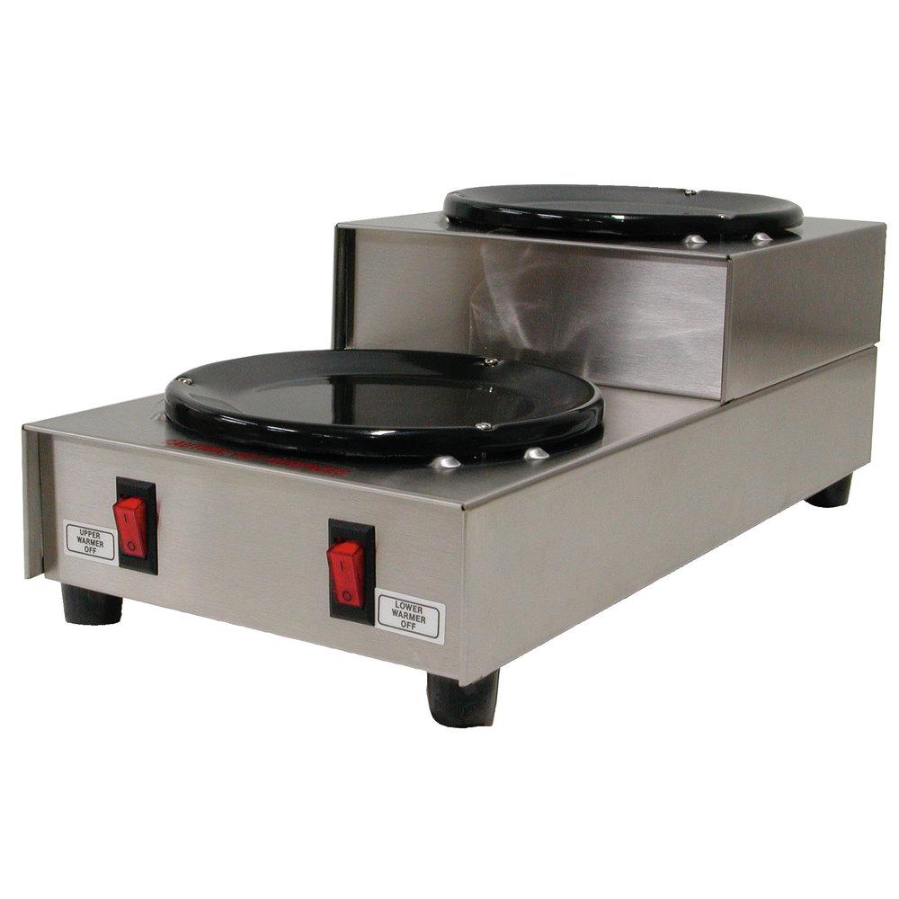 Grindmaster BW-2SU Two Tier Double Burner Coffee Warmer Station - 120V