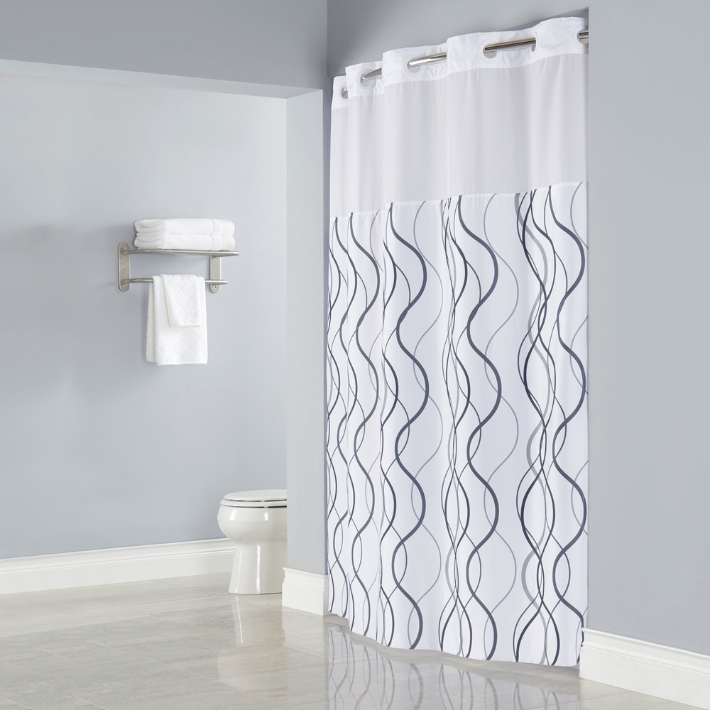 gray and white striped shower curtain. Gray Shower Curtain Liner Grey And White  Interior Design