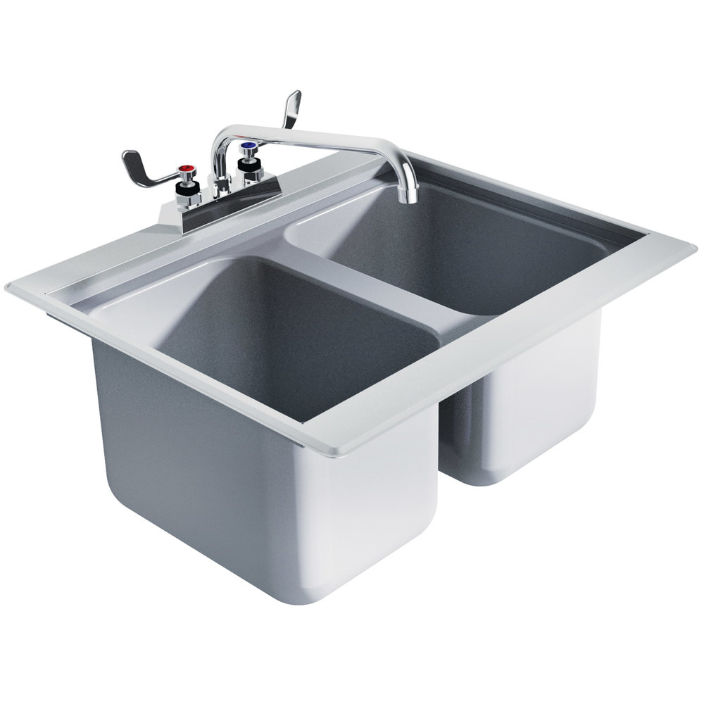 Restaurant Sink : ... DBS-2 Two Compartment Stainless Steel Drop-In Bar Sink - 24
