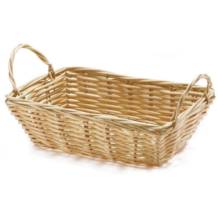 tablecraft 1185w rectangular woven basket with handles 8 1 2 x 5 x 2 1 2 12 pack. Black Bedroom Furniture Sets. Home Design Ideas