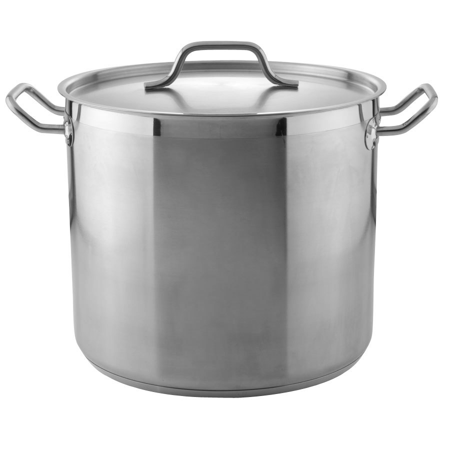 20 Qt Heavy Duty Stainless Steel Stock Pot With Cover