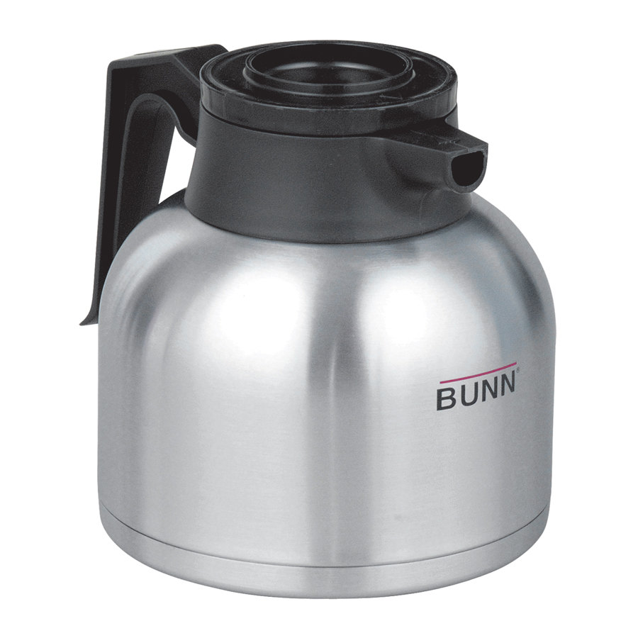 Zojirushi Coffee Maker Replacement Lid : Bunn 51746.0101 Zojirushi 64 oz. Stainless Steel Economy Thermal Carafe - Black Top