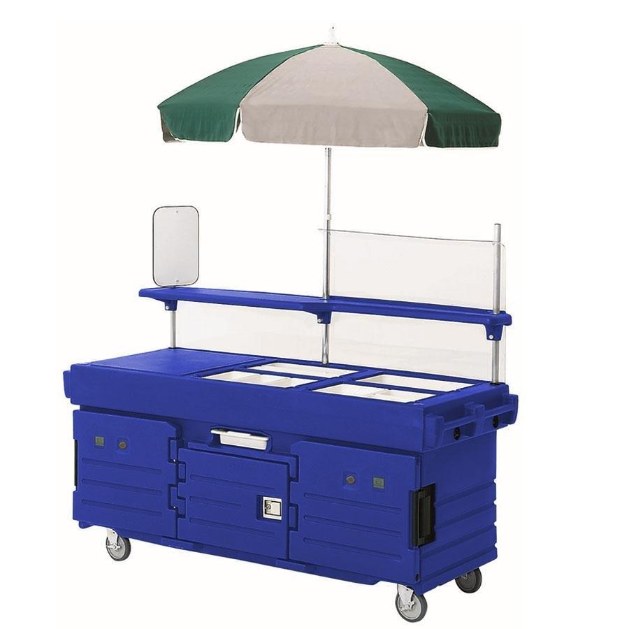 cambro camkiosk kvc856u186 navy blue vending cart with 6. Black Bedroom Furniture Sets. Home Design Ideas