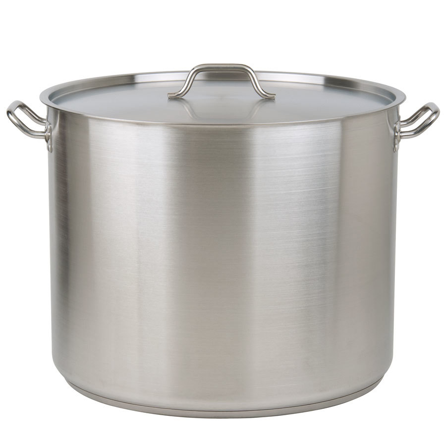 80 Qt Heavy Duty Stainless Steel Stock Pot With Cover