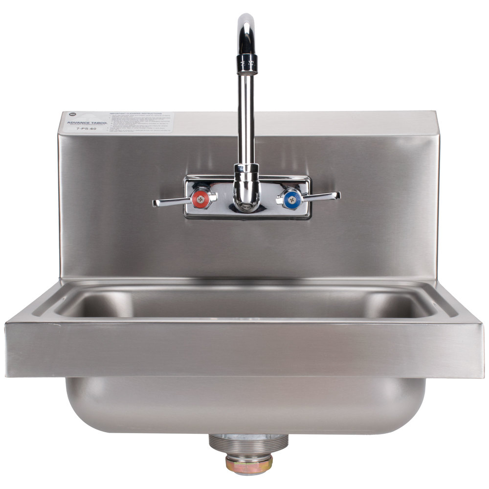 ... Tabco 7-PS-60 Hand Sink with Splash Mount Faucet - 17 1/4