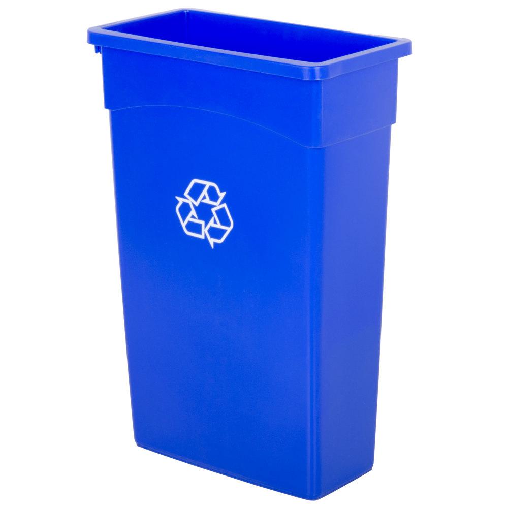 Continental 8322 1 23 Gallon Wall Hugger Recycling Trash