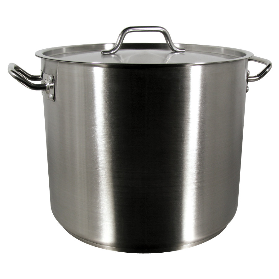32 Qt Heavy Duty Stainless Steel Stock Pot With Cover