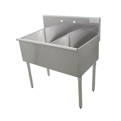 Commercial Sinks Australia : ... Tabco 6-42-60 Two Compartment Stainless Steel Commercial Sink - 60