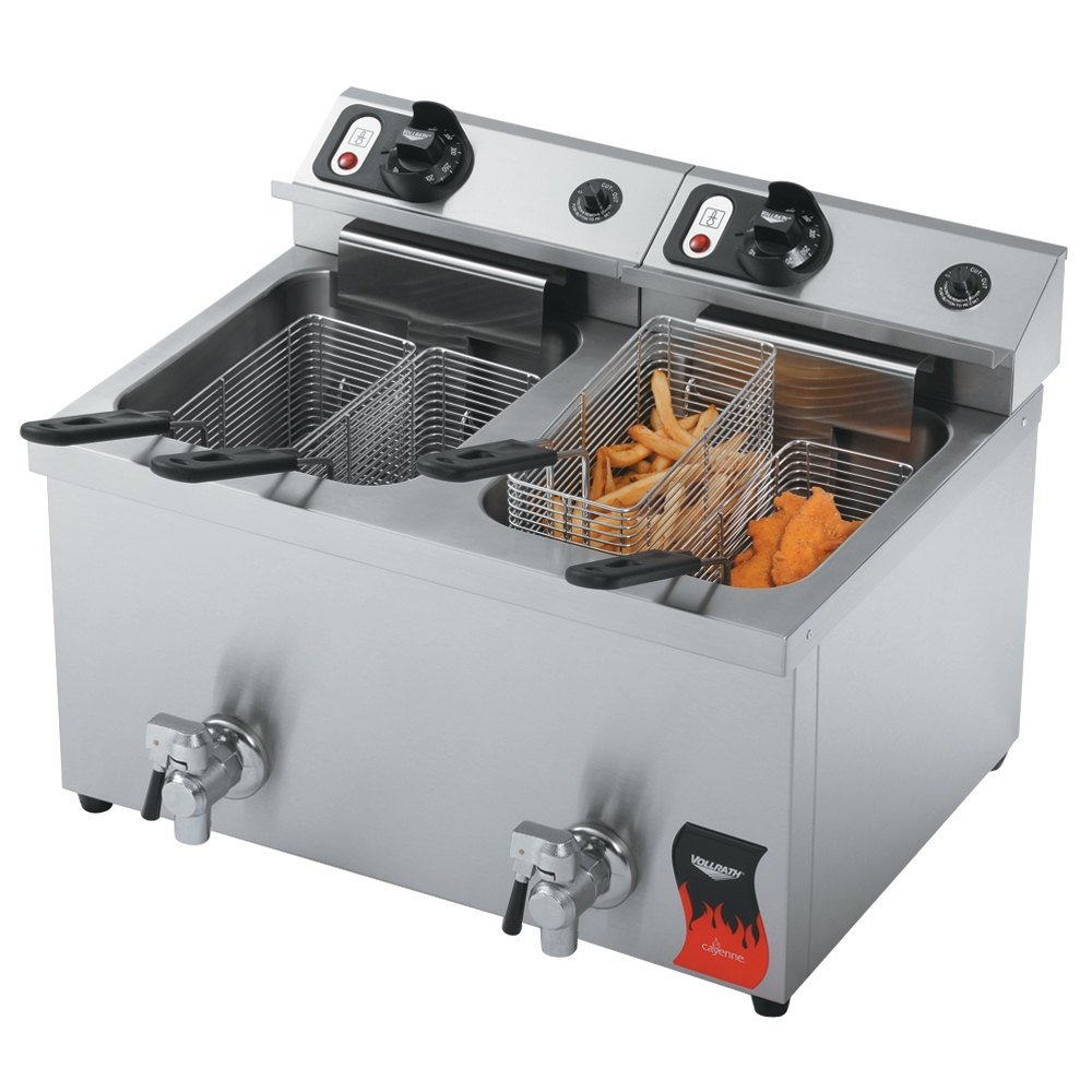 Countertop Deep Fryer : Vollrath 40710 30 lb. Commercial Countertop Deep Fryer - 208-240V