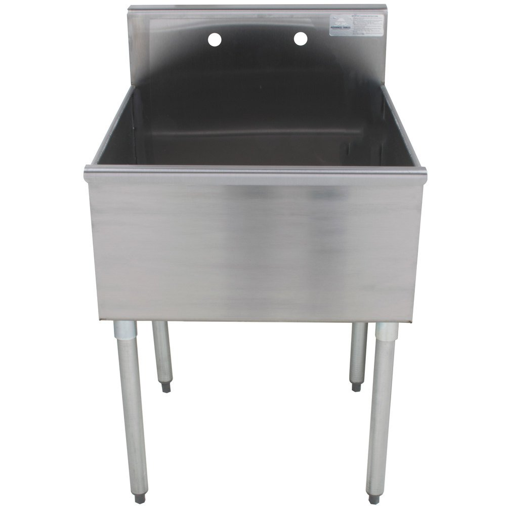 Stainless Industrial Sink : ... Tabco 6-41-24 One Compartment Stainless Steel Commercial Sink - 24