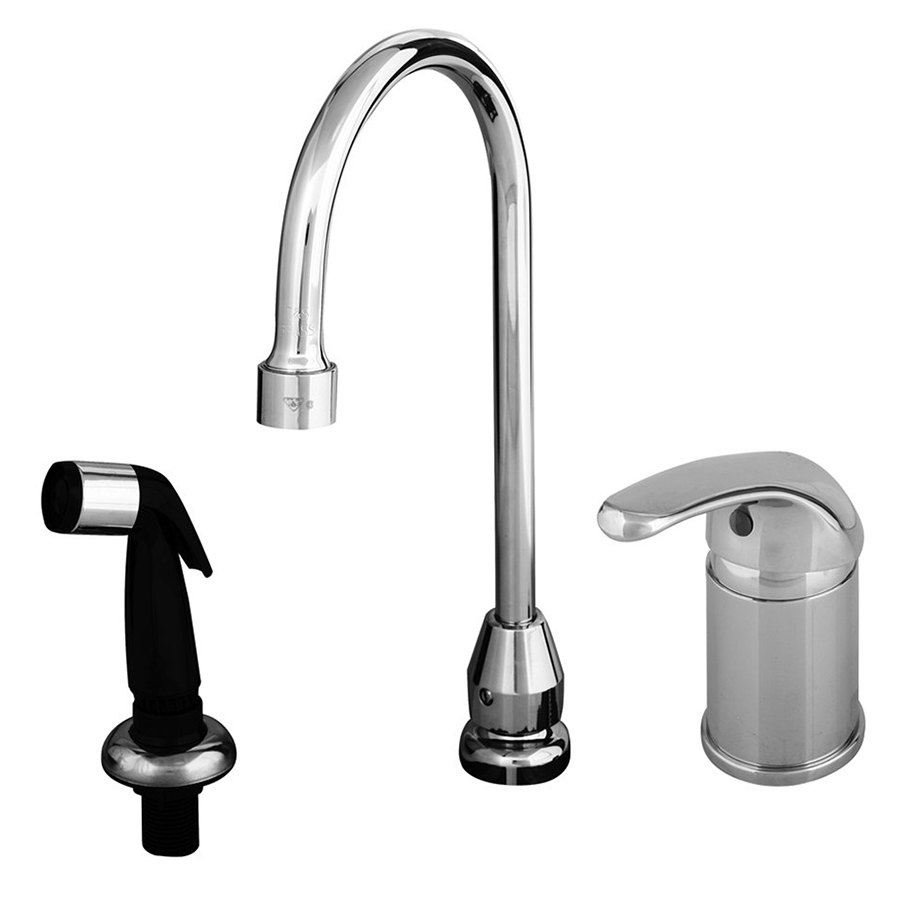 T S B 2745 Side Mount Faucet With Remote On Off Control Base 48 Flexible Stainless Steel Hose