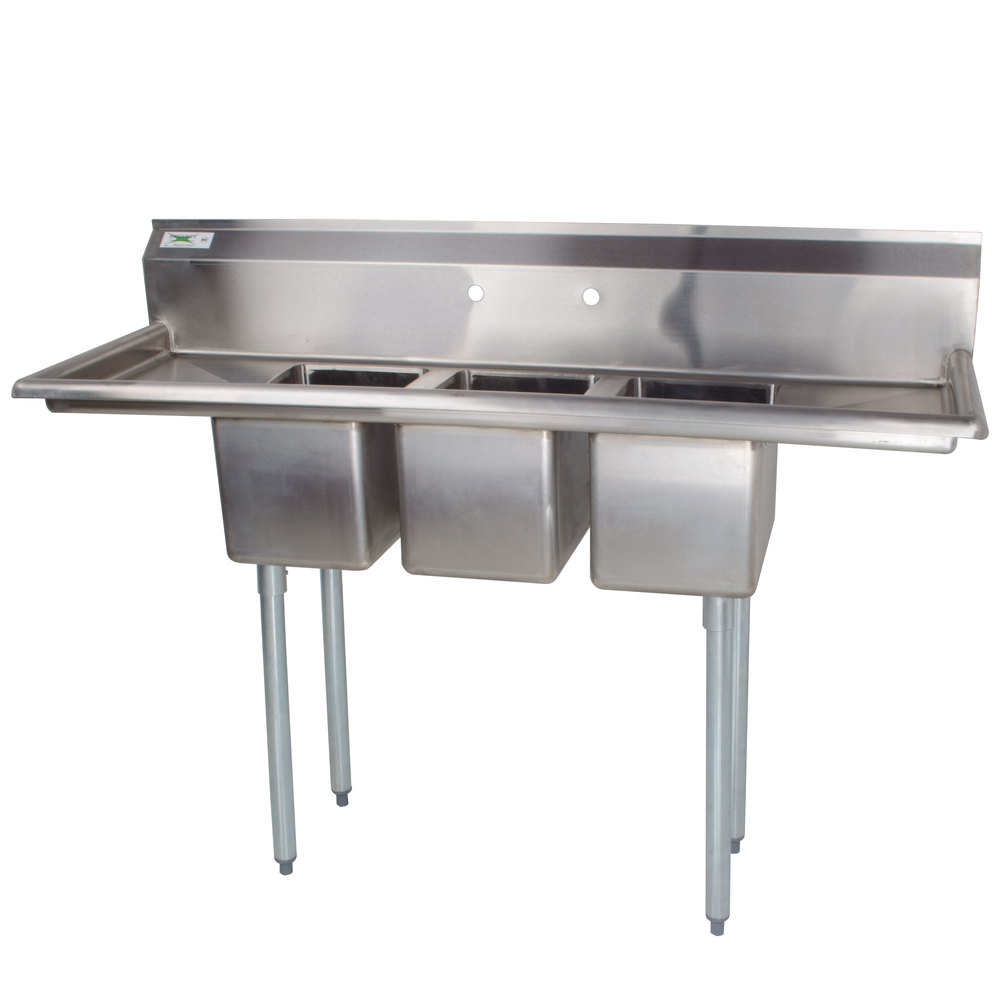 16 Gauge Stainless Steel Sink : Regency 66