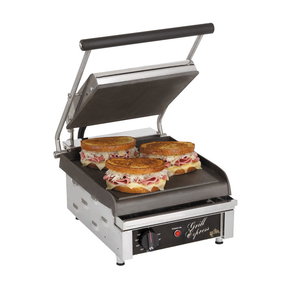 star gx10is 10 x 10 grill express heavy duty smooth top bottom panini grill. Black Bedroom Furniture Sets. Home Design Ideas