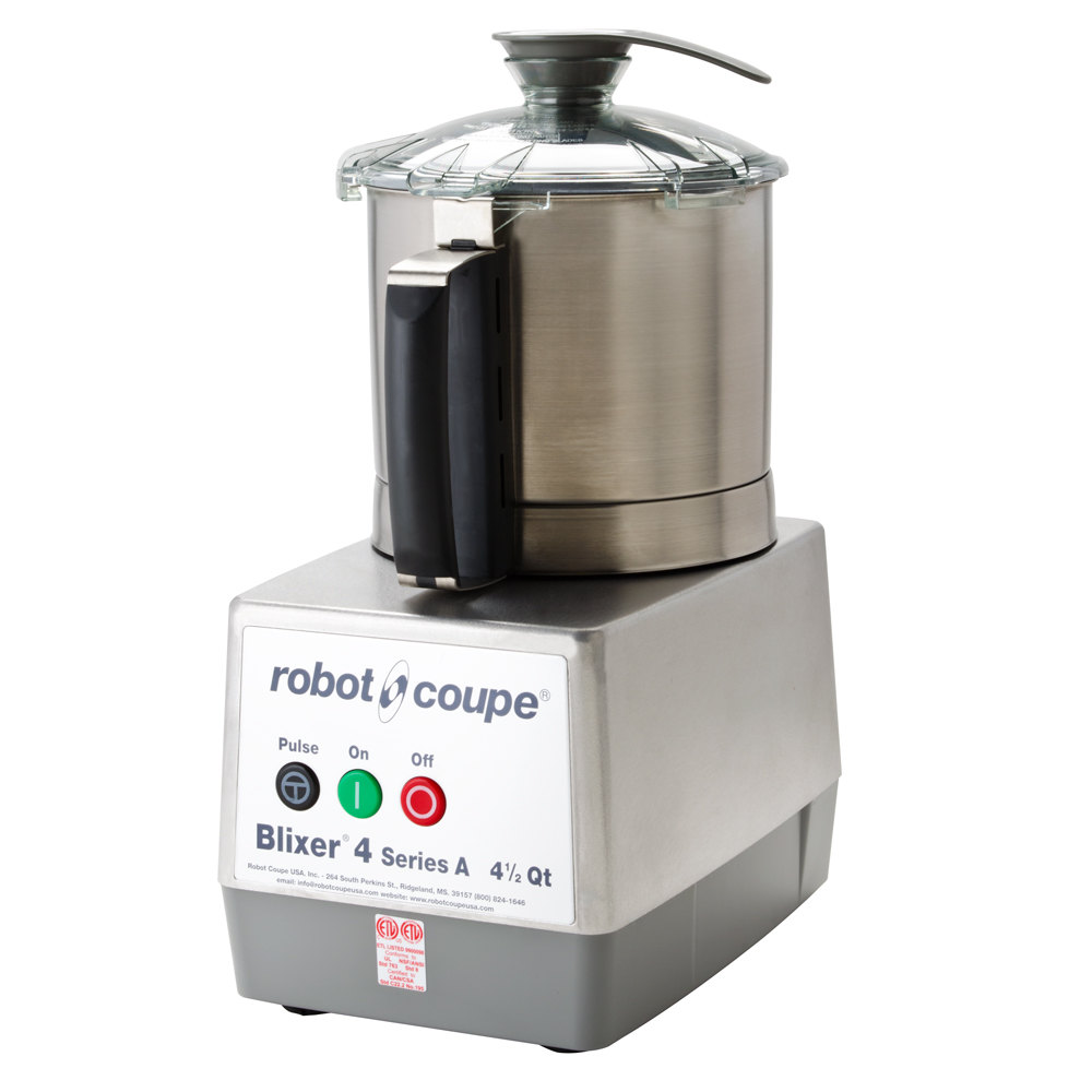 robot coupe blixer 4 food processor with 4 5 qt stainless steel bowl and single speed 1 1 2 hp. Black Bedroom Furniture Sets. Home Design Ideas