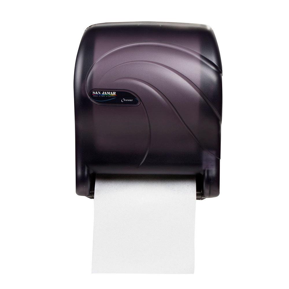 San Jamar T8090TBK Oceans Essence Hands Free Paper Towel Dispenser Black Pearl