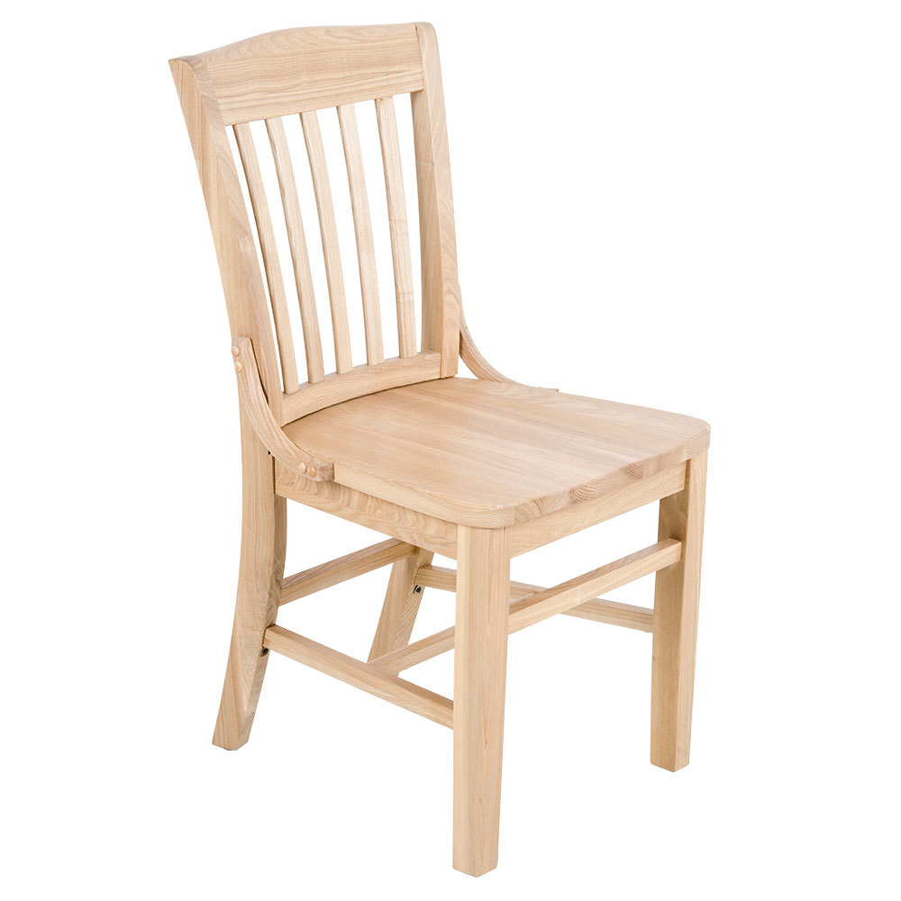 Lancaster Table Seating Natural Finish Wooden School House Chair