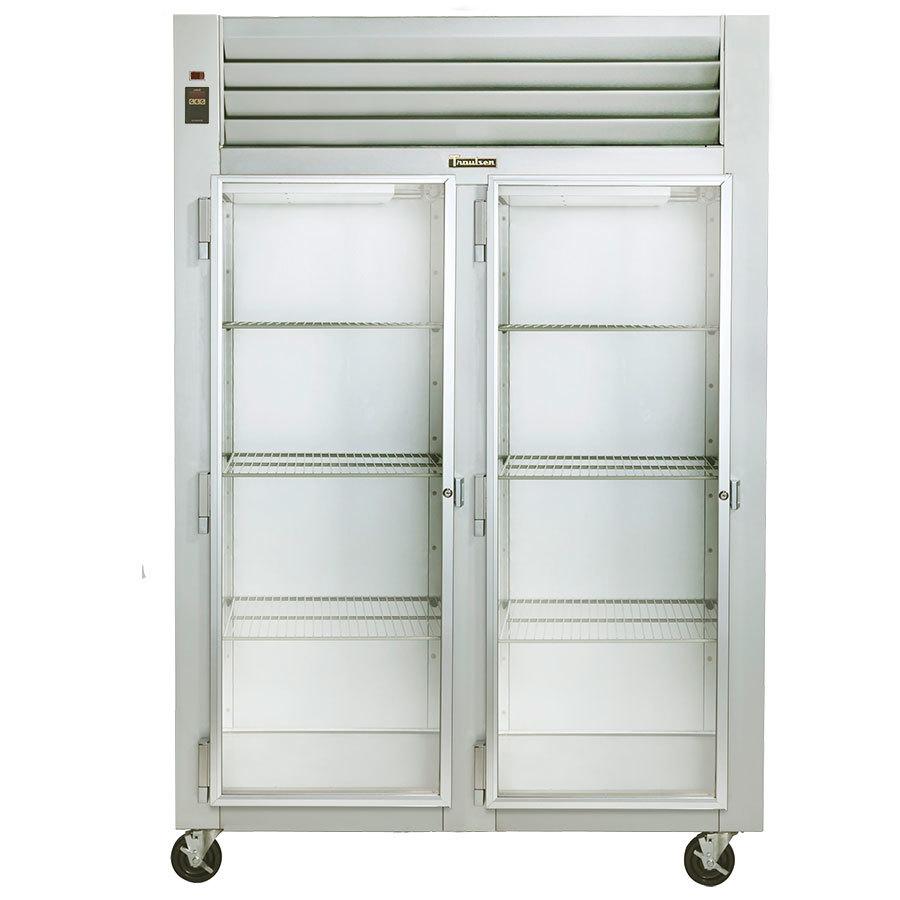 ... Section Glass Door Reach In Refrigerator - Left / Left Hinged Doors