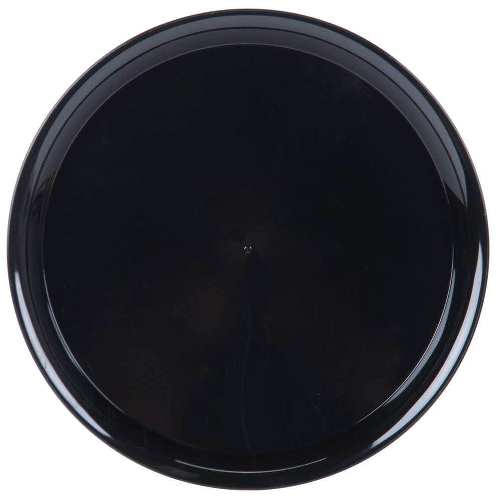 WNA Comet A912BL Checkmate 12 Round Catering Tray  Black 25/Case