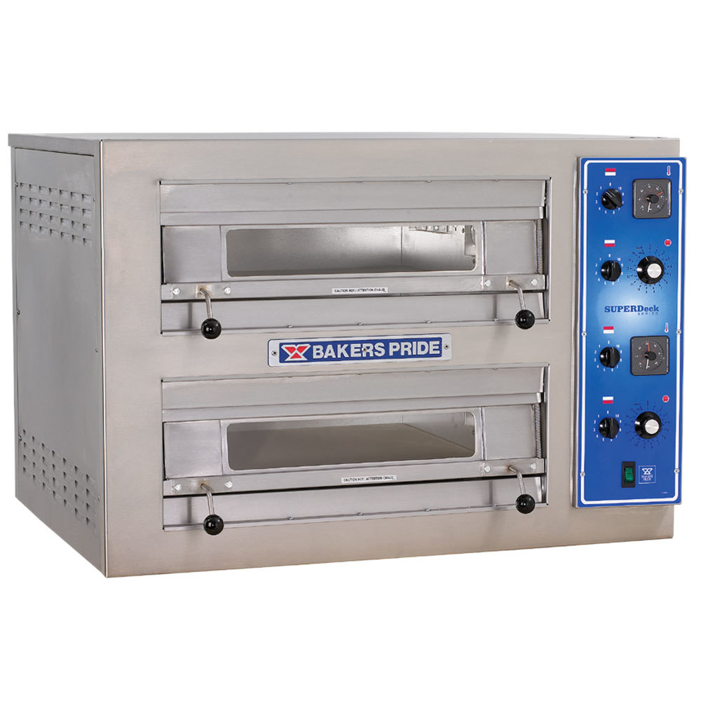 ... Bakers Pride EP-2-2828 Double Deck Countertop Electric Pizza Deck Oven