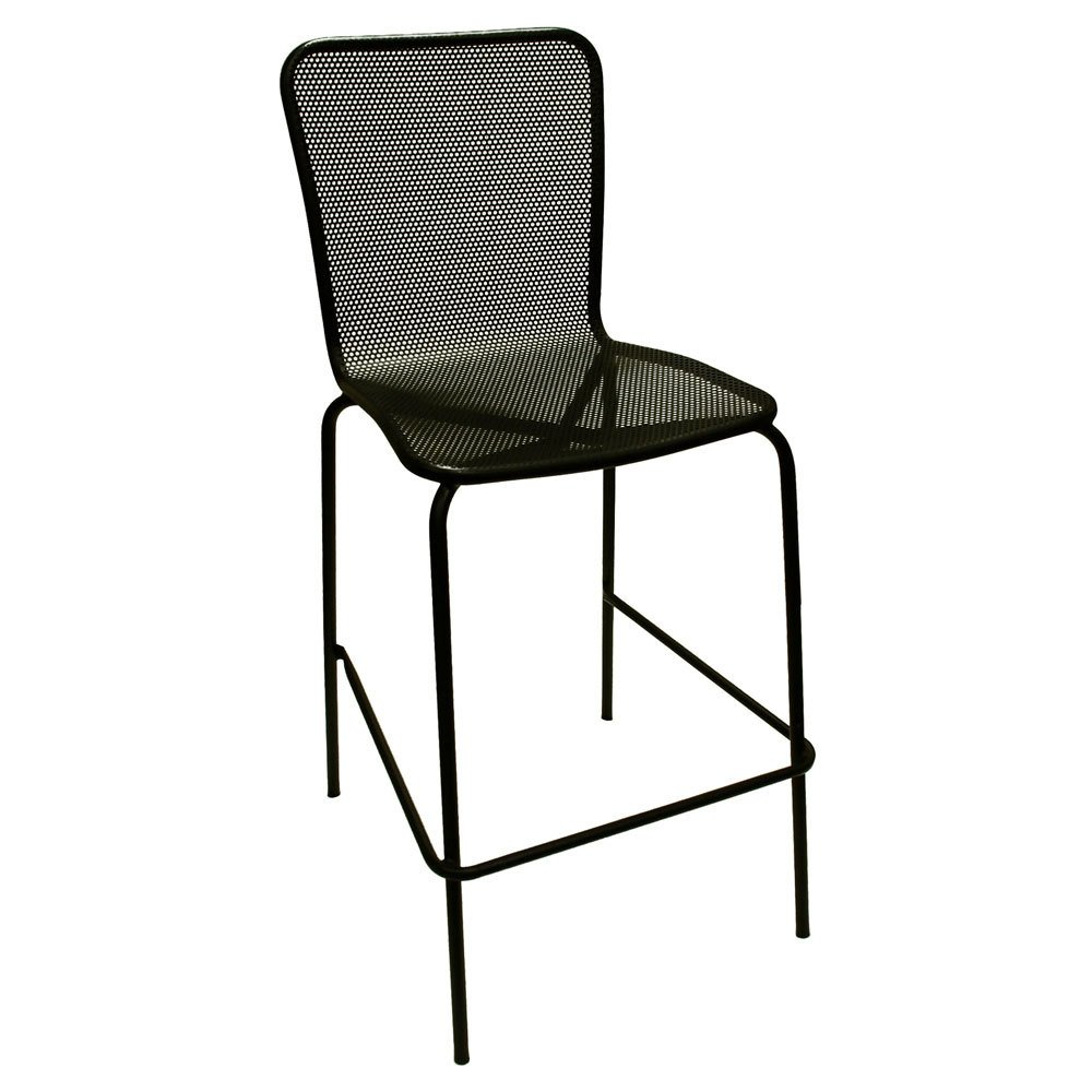Outdoor Bar Stools ~ American tables and seating bs black mesh outdoor bar stool