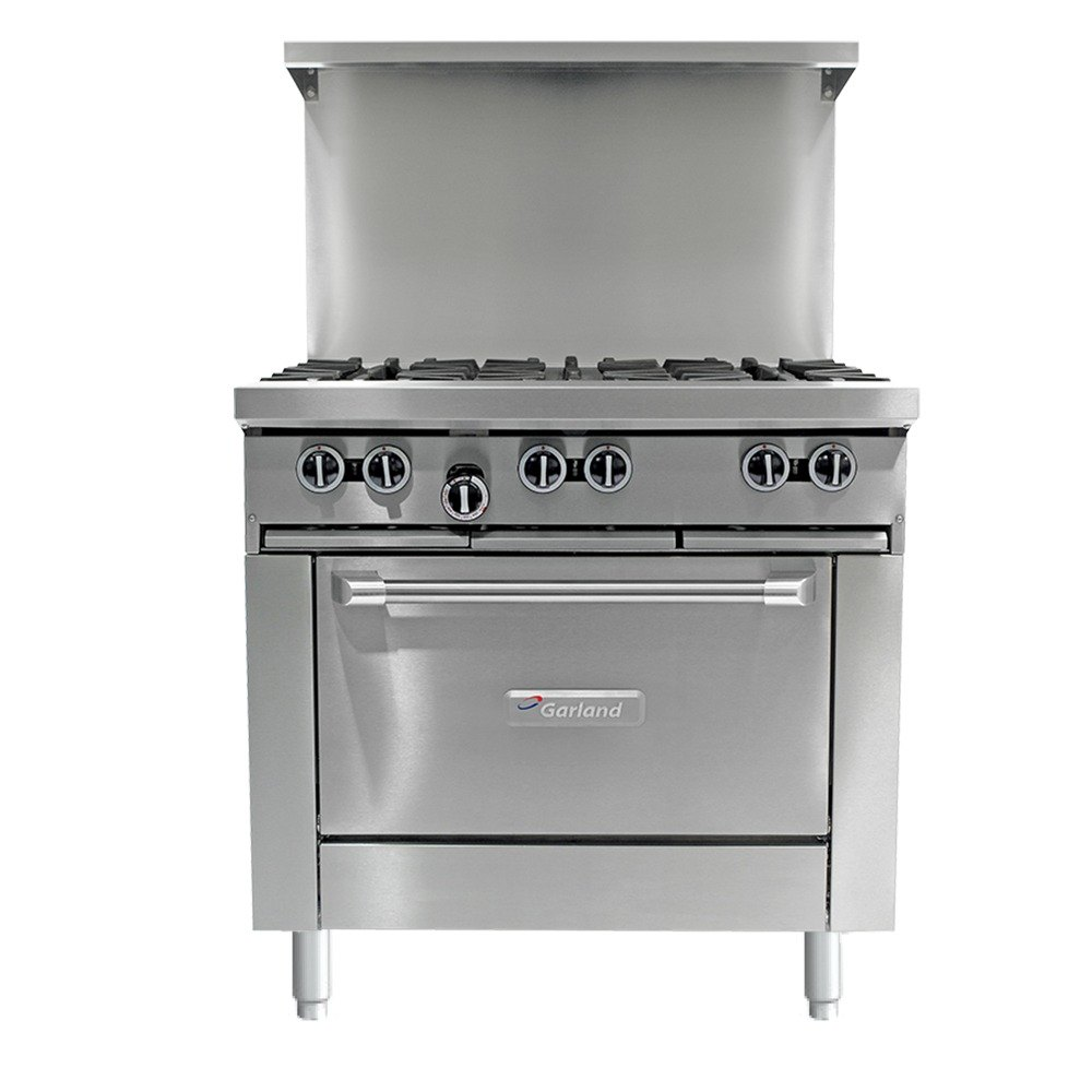 Garland G36 6C 6 Burner 36 Gas Range With Convection Oven
