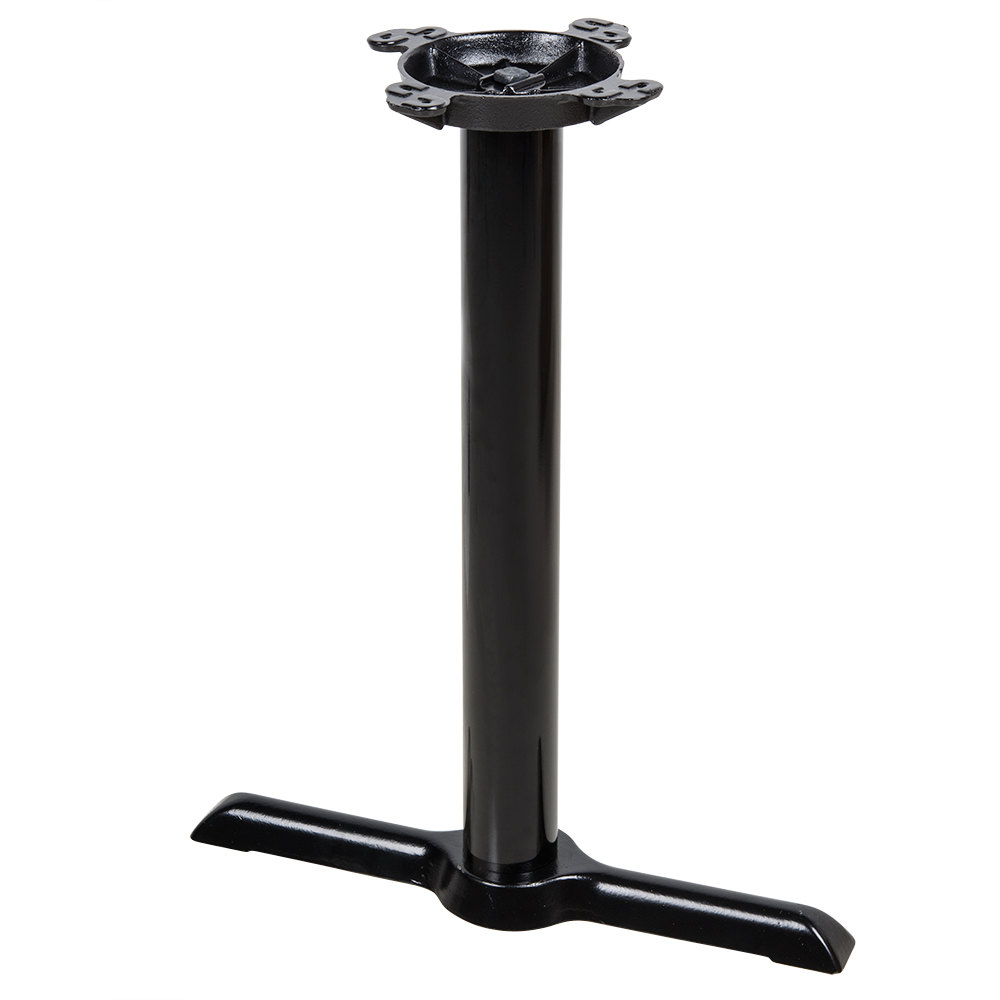 Lancaster table seating 5 x 22 end black metal table base - Table base metal ...