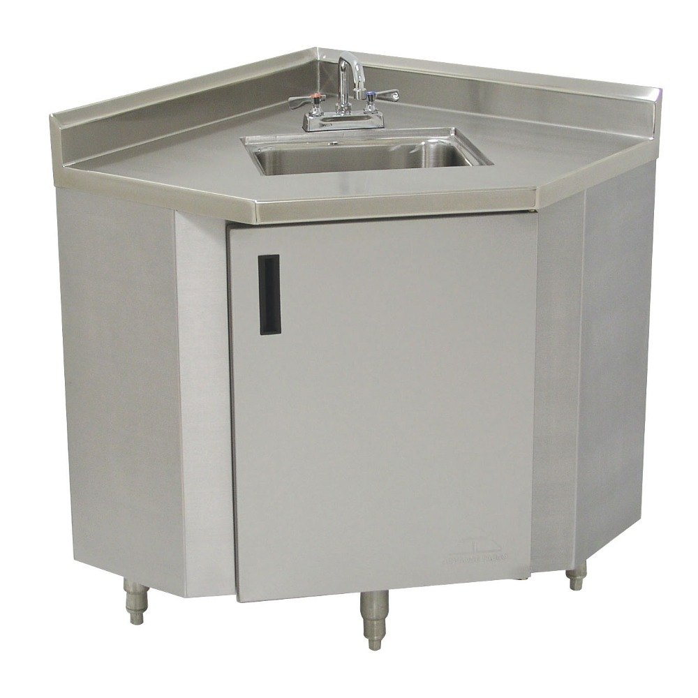 Corner Sink Storage : Advance Tabco SHK-1735 Stainless Steel Corner Sink Cabinet - 17