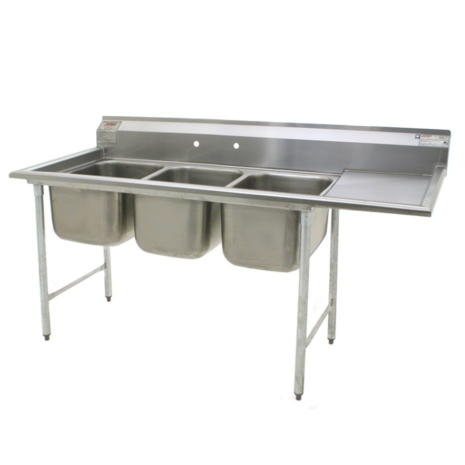 ... Bowl Stainless Steel Commercial Compartment Sink with 24