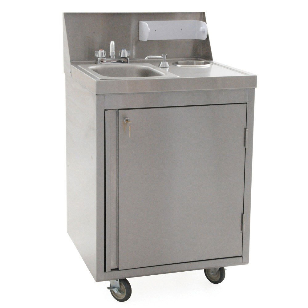Sink With Bowl : Eagle Group PHS-S-C Cold Water Portable Sink with Stainless Steel Bowl