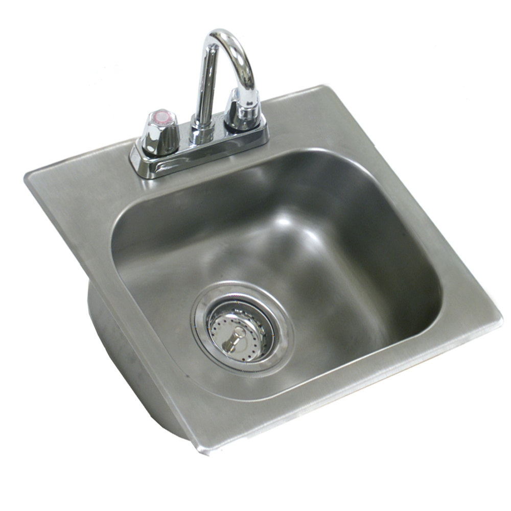Eagle Group SR20-12-6.5-1 One Compartment Stainless Steel Drop-In Sink ...
