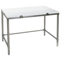 Eagle Group CHT3036S 30 inch x 36 inch Poly Top Stainless Steel Chopping Table - Open Base