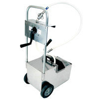 MirOil HOD0640 70 lb. Fryer Oil Hand Operated Filter Machine and Discard Trolley - Drain Valve