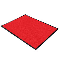 Cactus Mat 1470M-34 3' x 4' Red Machine Washable Rubber-Backed Carpet Mat - 3/8 inch Thick