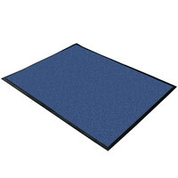 Cactus Mat 1470M-46 4' x 6' Blue Machine Washable Rubber-Backed Carpet Mat - 3/8 inch Thick