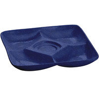 Tablecraft CW4200BS 11 inch x 11 inch Blue Speckle Cast Aluminum Appetizer Plate