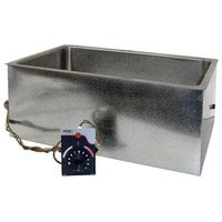 APW Wyott BM-80D Bottom Mount 12 inch x 20 inch Insulated Hot Food Well with Drain - 120V, 750W