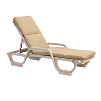 Grosfillex 98234131 Beige Chaise Cushion with Hood