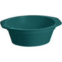 Tablecraft CW1420HGN 3.5 Qt. Hunter Green Cast Aluminum Small Oval Casserole Dish