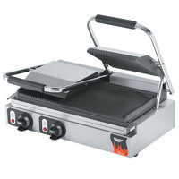 Vollrath 40795-C 22 1/8 inch x 9 5/8 inch Grooved Top & Bottom Double Panini Sandwich Grill - 220V (Canadian Use Only)