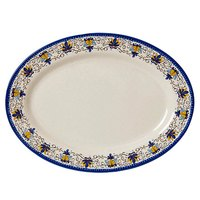 GET OP-621-SL Santa Lucia 21 inch x 15 inch Oval Platter - 12/Pack