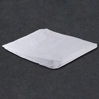54 inch x 80 inch x 14 inch White Full Size 200 Thread Count Cotton / Poly Fitted Hotel Sheet - 12/Case