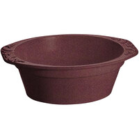 Tablecraft CW1420MAS 3.5 Qt. Maroon Speckle Cast Aluminum Small Oval Casserole Dish