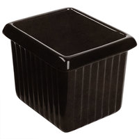 Tablecraft CW1520BKGS 1 Qt. Black with Green Speckle Cast Aluminum Rectangle Server with Ridges